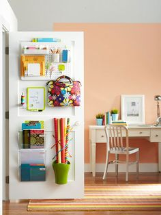 Trendy home office storage solutions closet doors 51 Ideas Pegboard Storage, Door Storage, Storage Hacks, Closet Storage, Storage Solutions, Storage Ideas, Craft Storage, Paper Storage, Kitchen Pegboard
