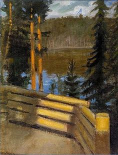 Akseli Gallen-Kallela (Finnish, 1865 - 1931), Kalela porch - Verandas , Kalela, 1897, oil on canvas, 40 x 31 cm