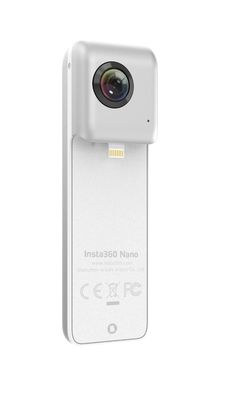 Insta360 Nano https://www.iwearvr.net/collections/insta360/products/insta360-nano-360-nano-vr-camera-dual-lens-for-iphone 360° Nano VR Camera, Dual Lens for iPhone - – Now available in a click away – today!