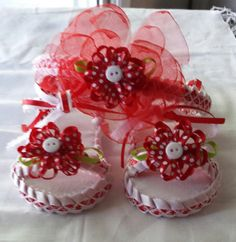 Baby girl shoes with matching bow by kiddoz101 on Etsy, $15.00