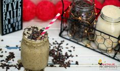 Life is short. Drink dessert first. That's right! This chocolate chip cookie dough smoothie satisfies the sweet tooth without making you scowl at your scale