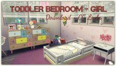 Dinha Gamer: Toddler Bedroom – Girl • Sims 4 Downloads