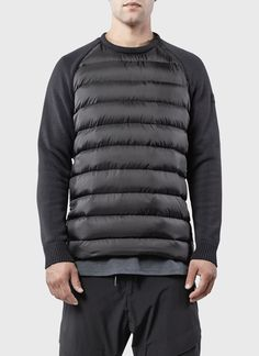 Combo Tech Knit Down Pullover | ISAORA