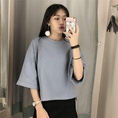 Bat Sleeve Women Pullover Shirts _T-shirts Top Women Wholesale Clothing, Cheap Clothes Online, Discount Clothing Shop - UniWholersaler.com
