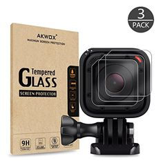 From 5.99:(Pack of 3) Tempered Glass Screen Protector for Gopro Hero 4 Session Hero 5 Session Akwox 0.3mm 9H Hard Scratch-resistant Camera Lens Film for GoPro Hero4 Session/Hero5 Session Camera Accessories