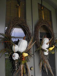 double fall wreaths