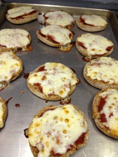 English Muffin Pizzas- good snack or meal for the kids