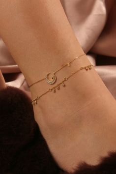 Gold And Silver Earrings Hoops Product Gold Jewelry Simple, Cute Jewelry, Jewelry Accessories, Women Jewelry, Gold Anklet, Anklets, Cute Bracelets, Jewelry Bracelets, Ankle Bracelets