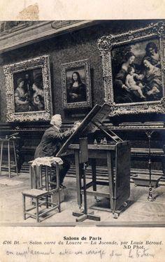 Louis Beroud, Salon carré du Louvre. La Joconde. Carte postale, postcard. Museum Art Gallery, Art Museum, Louvre, Reading Art, Antique Prints, National Museum, Beautiful Paintings, Artist Art, Art Sketches