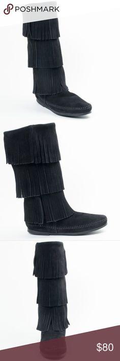 Spotted while shopping on Poshmark: Minnetonka 3-layer fringe boots! #poshmark #fashion #shopping #style #Minnetonka #Shoes