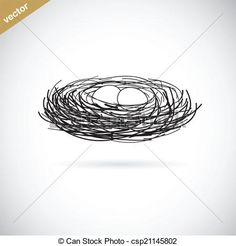 Vector - Vector image of an bird's nest - stock illustration, royalty free illustrations, stock clip art icon, stock clipart icons, logo, line art, EPS picture, pictures, graphic, graphics, drawing, drawings, vector image, artwork, EPS vector art