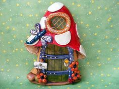 A Toadstool   Fairy door by Christine Salt of the Earth, via Flickr