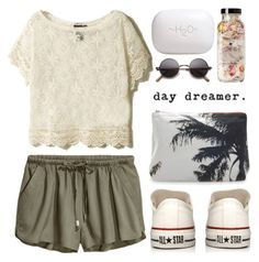 """""""day dreamer."""" by dazedandconfused ❤ liked on Polyvore featuring Dezso by Sara Beltrán, H2O+, Converse and fashionset"""