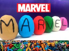Play Doh Surprise Eggs Marvel Toys