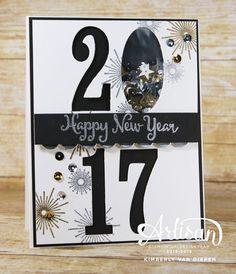 Celebrate the New Year with handmade cards using the It's a Celebration stamp set from Stampin' Up!