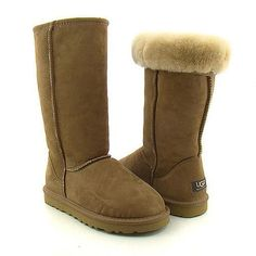 LOVE it This is my dream ugg boots-fashion ugg boots! Click pics for best price ♥ugg boots♥ Kids Ugg Boots, Ugg Boots Sale, Ugg Boots Cheap, Uggs For Cheap, Ugg Classic Tall, Classic Ugg Boots, Tall Uggs, Tall Boots, Sheepskin Ugg Boots