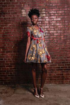 NOUVELLE robeAfrique Portia imprimer 100  par DemestiksNewYork, $140.00