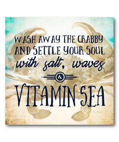 Vitamin Sea Wrapped Canvas