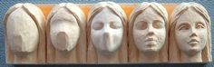 Tutorial how to Step by step carving female face. https://www.facebook.com/Bill.Sculptures.tronconneuse.Quebec