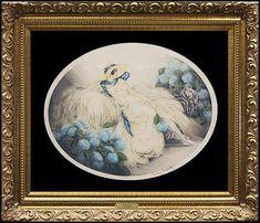Louis Icart Original ETCHING Signed Art Deco Hydrangeas Windmill Stamp Authentic  | eBay