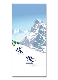 Wintersport Motivdruck