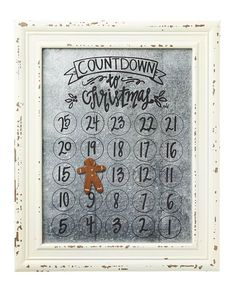 Countdown to Christmas Magnetic Calendar with Wood Frame- use as idea for year round calendar Christmas Makes, Christmas Mood, Christmas Signs, Christmas 2019, Christmas Crafts To Sell Make Money, Christmas Projects, Holiday Crafts, Christmas Countdown, Christmas Window Decorations