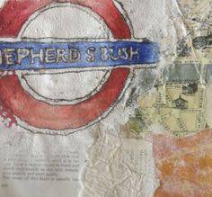 Leanne Floweth: vintage, collage, mixed media, stitch, textiles