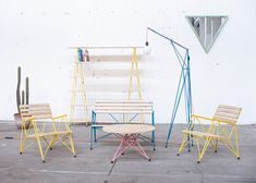 « Newer story Older story » Polígono by Losgogo inShare 57 May 2013   2 comments More: DesignFurnitureSlideshows  Chilean design studioLosgogo used reinforcing steel and wood to build these items of furniture against the clock