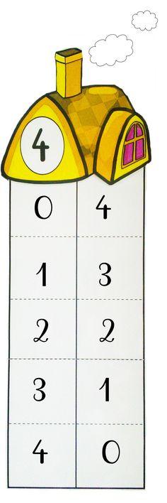 maison du nombre 4 Preschool Math, Teaching Math, Numicon, Math Projects, Counting Activities, First Grade Math, Teaching Materials, Kids Education, Fun Learning