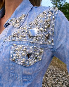 She's a Gem Denim Top.  Free shipping on all orders.