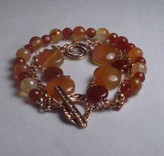 Orange Carnelian Bracelet http://www.etsy.com/listing/88386182/orange-carnelian-bracelet
