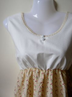 SALE Jennifer Lilly Handmade Beautiful Cream Floral Dress...so cute and in the sale too! $20.00