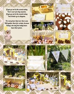Teddy Bear Picnic party ideas board 2/3.  Party by www.iwillinvitations.com.au