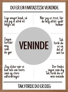 Danish Language, Hand Lettering Quotes, Bff Gifts, Birthday Diy, Note To Self, Haha, Positivity, Humor, Motivation