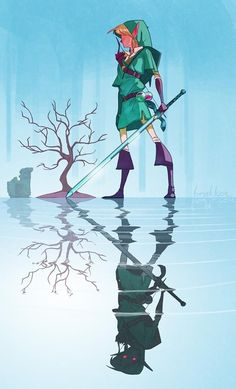 Video Game Artwork - The Legend of Zelda Illustration by Brakkenimation