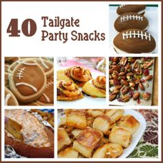 Six Sisters' Stuff: 40 Tailgate Party SnacksFootball season is here! Check out these 40 Tailgate Party Recipes that we rounded up . . .