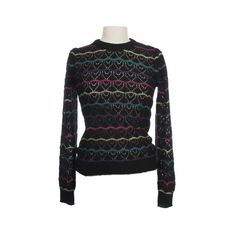 Squiggle Heart Sweater- Mod Emo Retro Indie Clothing ❤ liked on Polyvore featuring tops, sweaters, heart sweaters, mod sweaters, retro sweaters, retro tops and heart tops