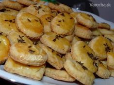 Slané drobné pečivo Czech Recipes, Appetisers, Christmas Baking, Ham, Biscuits, Muffin, Food And Drink, Pizza, Bread