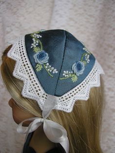 Beautiful silk bonnet by Tomi Jane, via Flickr