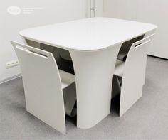 Modern and Contemporary Table with Hidden Chairs – Table 2&2 | Home, Building, Furniture and Interior Design Ideas