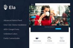 Ela - Corporate WordPress Theme by ThemesCreators on @Graphicsauthor