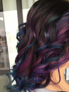 Mermaid hair...oil slick hair...galaxy hair