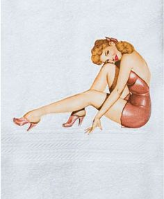 Pin Up Girl Hand Towels
