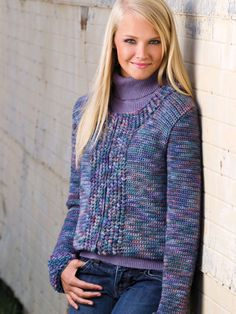 Crochet - Crochet Clothing - Jacket & Coat Patterns - Loop-d-Loop Jacket Crochet Coat, Crochet Winter, Crochet Cardigan, Cute Crochet, Crochet Clothes, Free Crochet Jacket Patterns, Coat Patterns, Clothing Patterns, Knit Picks