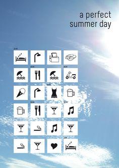 A perfect summer day. Un día perfecto de verano