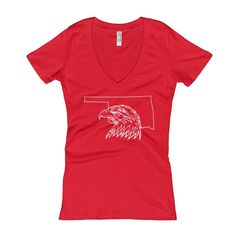 Home of the Eagles Women's Deep V-Neck T-shirt