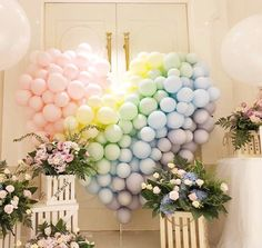 balloons - set of 10 balloons - pastel color - pastel balloons - candy balloons Pastel Balloons, Yellow Balloons, Rainbow Balloons, Balloon Garland, Balloon Decorations, Birthday Decorations, Baby Shower Decorations, Valentines Balloons, Graduation Balloons