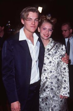 Leonardo DiCaprio and Claire Danes at premiere of Romeo + Juliet in 1996