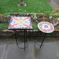 How To Create a Mosaic Design for a Table Top. Ceramic Tiles make an awesome table .