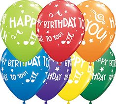 Happy Birthday To You Music Notes Carnival Assortment Qualatex Balloons x 25 Happy Birthday Baby, Birthday Wishes, Birthday Cards, Qualatex Balloons, Birthday Cake Pictures, Online Party Supplies, Glo Up, Ppr, Your Music